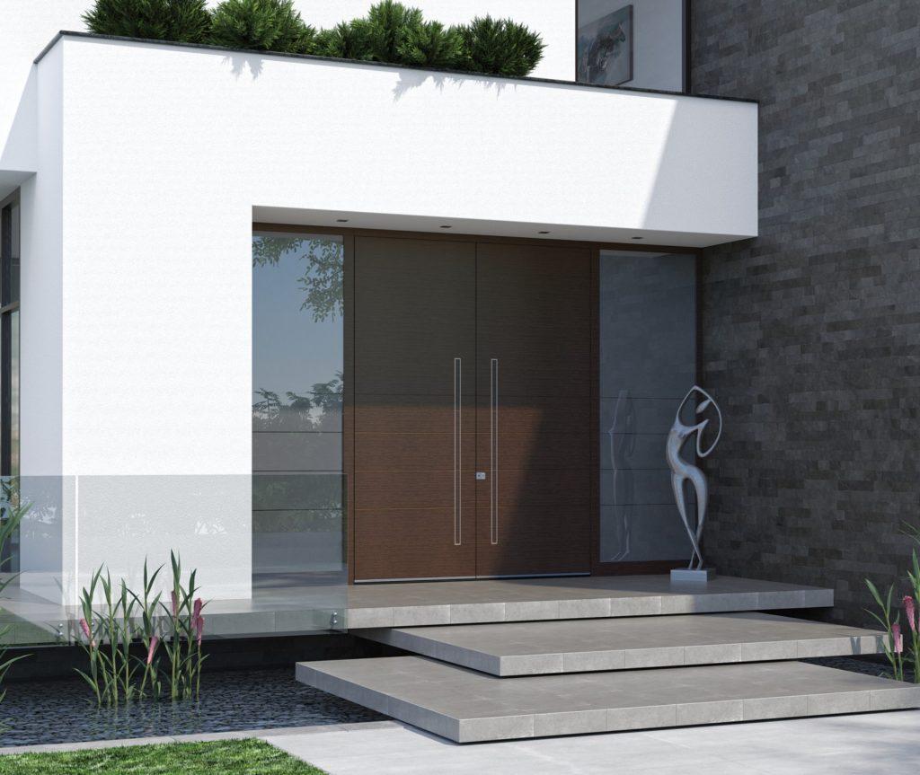 Eingangstür mit Seitenteil