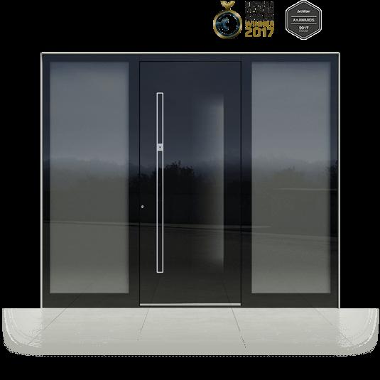 Eingangstür mit Glas
